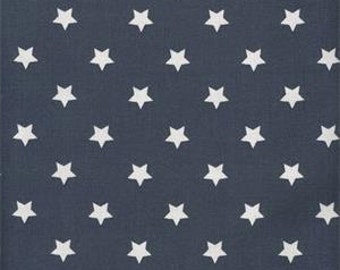 Au maison oilcloth star big midnight blue coated cotton