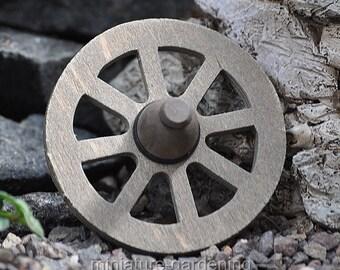 Wagon Wheel for Miniature Garden, Fairy Garden