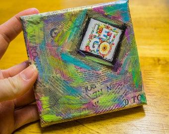 Mini Mixed Media 'Let Go' Canvas