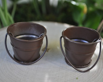 Pair of Miniature Water Buckets