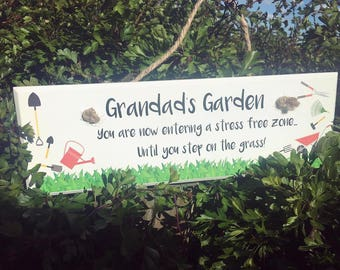 Grandads Garden Plaque