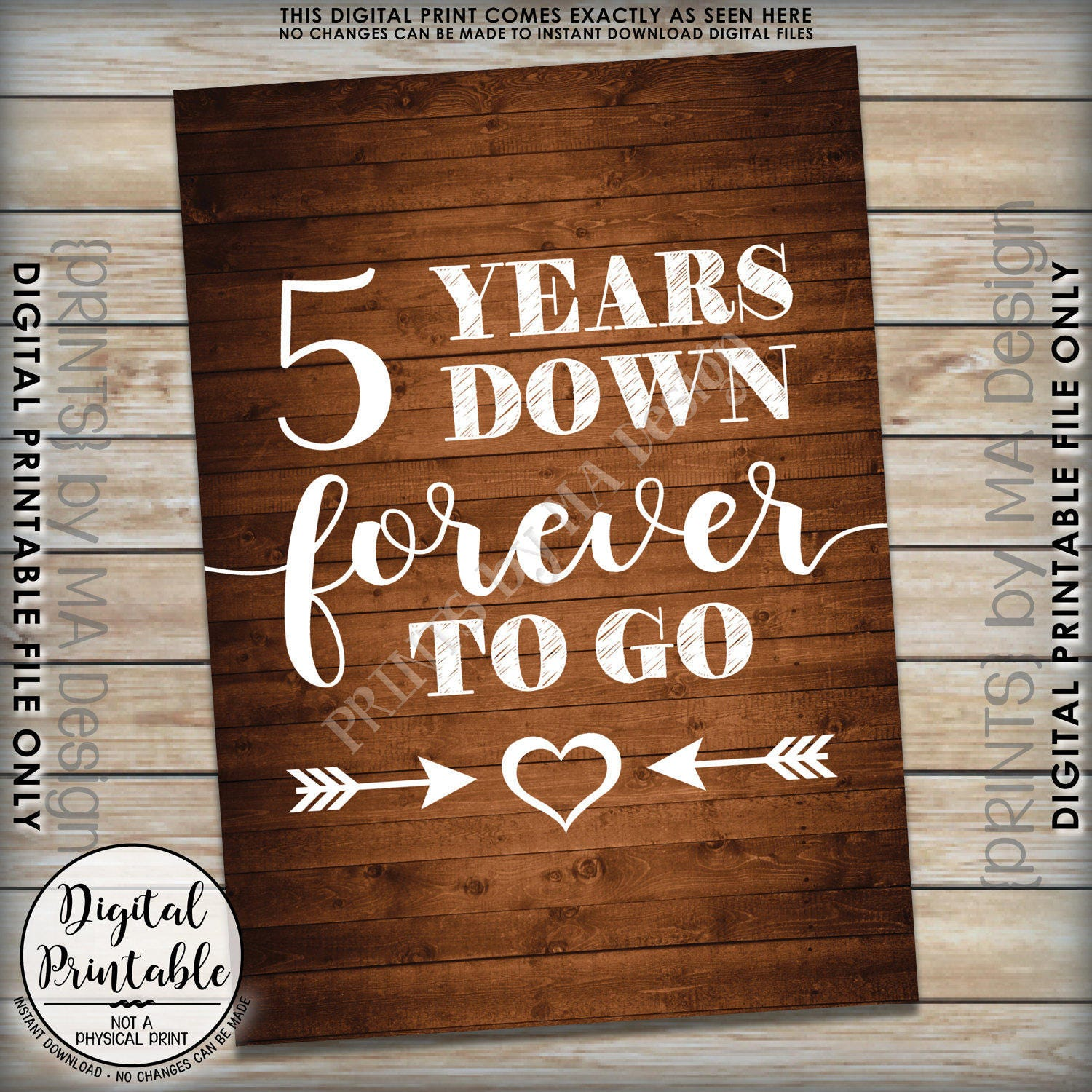 Fifth Wedding Anniversary Ideas: 5 Years Down Forever To Go, 5th Wedding Anniversary Gift