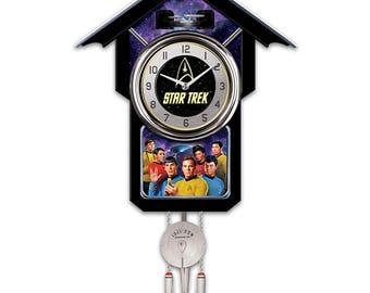 STAR TREK Cuckoo Clock With Sound, Motion And Original Series Crew by Bradford Exchange