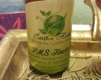 PMS Tincture: 1oz Handmade All-Natural Herbal Moon Time Symptom Relief Tincture