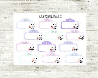 Panda Movie Marquee Stickers