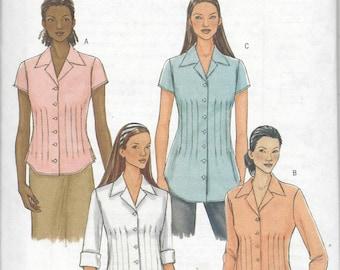 Butterick 4457 Misses shirt pattern OOP 8-10-12-14