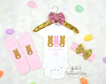 My First Easter Outfit- Baby First Easter outfit- First Easter outfit- Easter Outfit- Baby Easter outfit