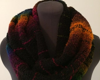 Handwoven Boucle  Cowl Scarf
