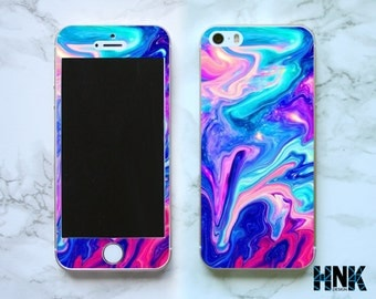Iphone SE full skin / Iphone 5s decal / Iphone 5 decorative cover / colorfull art case IS002
