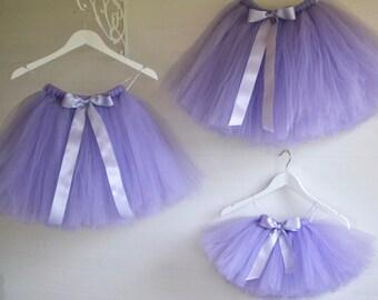 Princess tutu, girls tutu, girls lavender tutu, flower girl tutu, tutu skirt, tulle skirt, baby tutu, wedding tutu, flower girl dress
