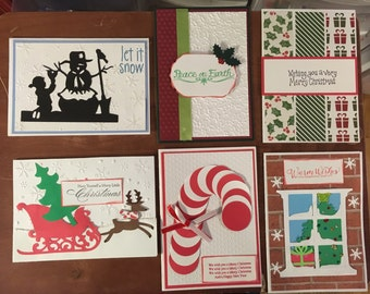 Set of 6 Christmas Cards with envelopes