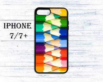 Color pencil set phone cover for iPhone 4/4s, iPhone 5/5s/5c, iPhone 6/6+, iPhone 6s/6s Plus, iPhone 7/7+ phones - gift idea case for iPhone
