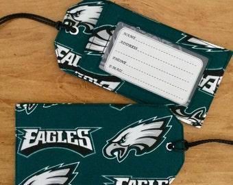 Luggage tag. Philadelphia Eagles luggage tag. Gift card holder. Stocking stuffer.