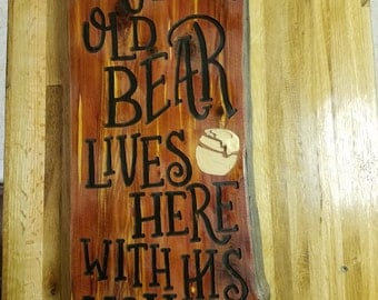 Bear with Honey - sign***  Valentine