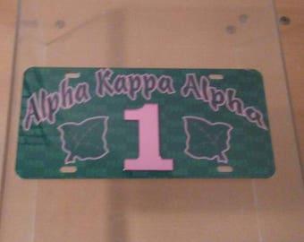 Alpha Kappa Alpha - Line Number License Plate #1