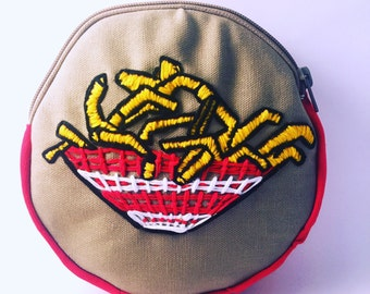 French fries cosmetic pouch
