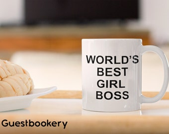 World's Best GIRL Boss Mug - Boss - Boss Gifts - The Office - Michael Scott - The Office Mug - Future is Female - Feminist -Girl Power - Mug