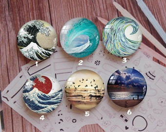 Handmade Round Photo glass Cabochons,8mm -58mm size Cute Animal Style Butterfly More-ZY900