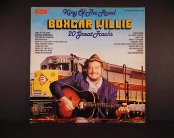 "Boxcar Willie Vintage Vinyl LP  1980 ""King Of The Road"" SMI 1-24 / Wabash Cannonball / Move It On Over / Wreck Of The Old '97 / Boxcar Blues"