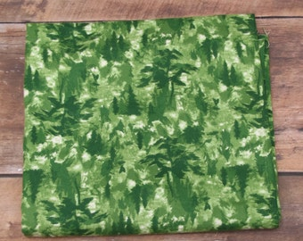 Call of the Wild by Henry Glass Co. #1955-66  Flannel  100% Cotton  Green Tonal Pine Trees