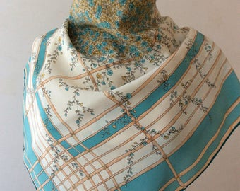 Vintage foulard with flowers.