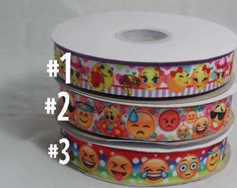 Emoji Grosgrain Ribbon
