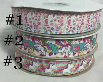 Unicorn Grosgrain Ribbon
