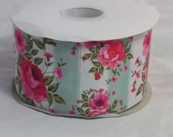 "3"" Floral Grosgrain Ribbon"