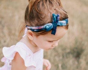 Tie Dye Bow Twist Headbands
