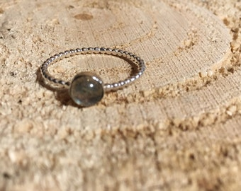 Serling Silver and Labrodite Ring