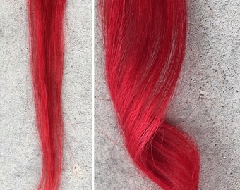 Red Clip-In Human Hair Extension