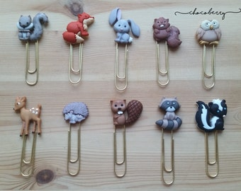 Woodland Animals Paper Clips