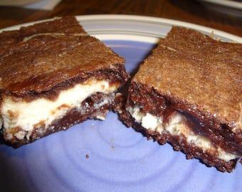 """Exquisite Homemade Bailey's Irish Cream and Cream Cheese Chocolate Brownies (13""""x9"""" Tray)"""