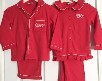 SALE!!!  - Children's Christmas Pajamas - Boys Christmas Pajamas - Girls Christmas Pajamas - Christmas Pj - Monogrammed Pajama