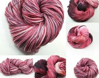 Superwash Fine Merino Sock Yarn with Stellina -Nebula colorway