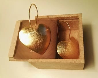 Earrings heart 18k gold plated