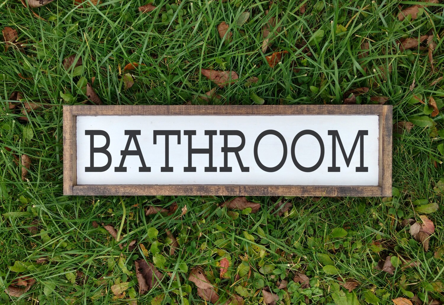 Bathroom Wall Decor Sign Wooden Sign Bathroom Sign Rustic