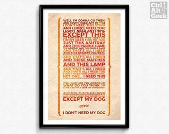 I Don't Need Anything // The Jerk, Steve Martin, Optigrab, I Don't Need My Dog, Steve Martin Quote, Carl Reiner Movie