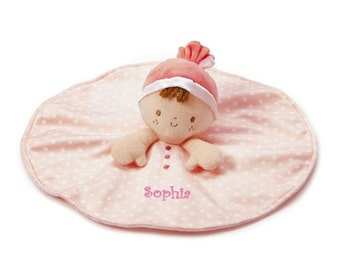 Personalized My First Doll Snuggle Blankie - 12 inches, Brunette