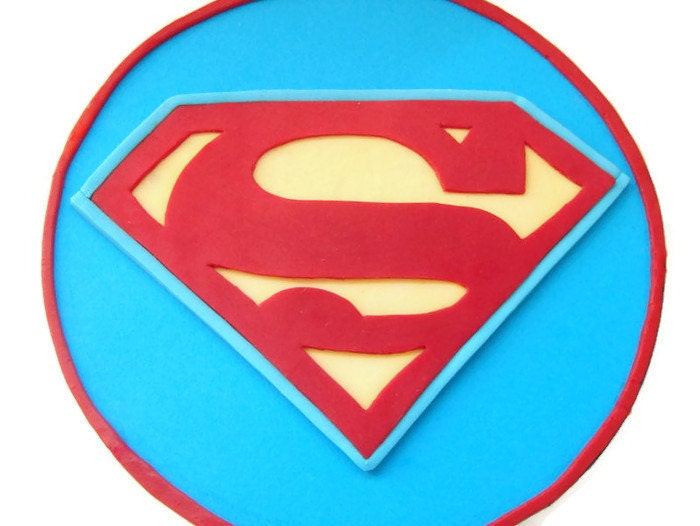 Superman Edible Cake Images : Superman Fondant Edible Cake Topper Superman by ...