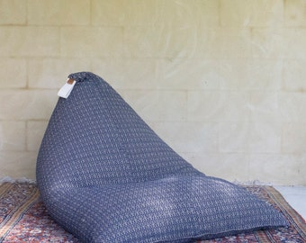 Bean Bag Chair, Seat, Navy, Fabric chair