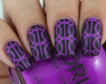 Rings Nail Art, Nail Vinyls, Nail Stencils, Nail Decals, Nail Stickers 20 Count