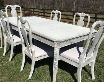 SOLD French Country Dining Set LOCAL PICKUP