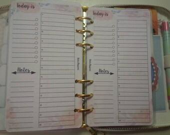 Today Planner insertrefill giornaliero perpetuo(senza data) formatopersonal/medium o pocket/small