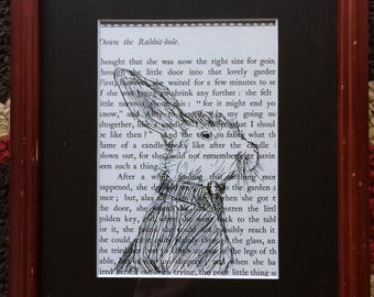 Alice in Wonderland Ink on Book Page