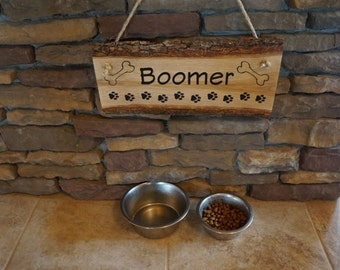 Pet Signs, Dog Print Sign, Personalized Pet Signs, Live Edge Sign, Engraved Pet Sign, Dog Sign, Personalized Dog Sign