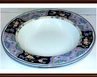 Rim Bowls By Mikasa Provincial Villa  Brunella Soup Salad Cereal Set of 2