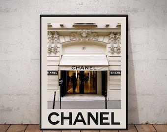 Chanel Poster Coco Chanel Wall Art Chanel Print 32 Rue Gambon Paris Wall Art Fashion Wall Art Chanel Decor Chanel No 5