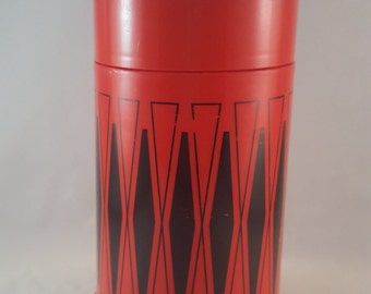 Red and Black Vintage Thermos