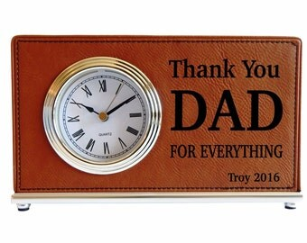 Daddy Desk Clock, Special Gift for Dad, Gift for Husband, Gift for Grandpa, Christmas Gift for Dad, Birthday Gift for Dad, Dad Gift, LCD054